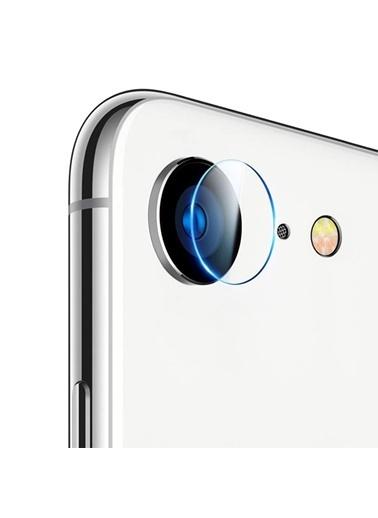 Microsonic iPhone 8 Kamera Lens Koruma Camı Renksiz